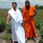 Acharya Balkrishanji and Swami Ramdevji at the Houston Center Land