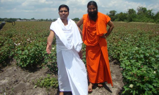 Acharya Balkrishanji and Swami Ramdevji at the Houston Center Land