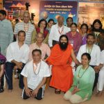 Swami Ramdevji with the US delegates