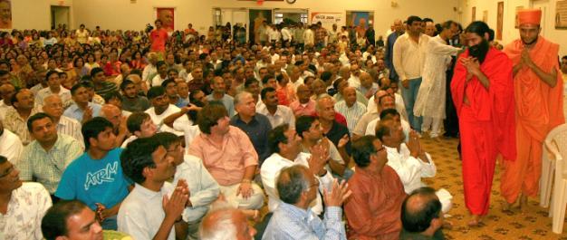 During BAPS temple visit