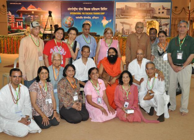 Swami Ramdevji with the US delegates