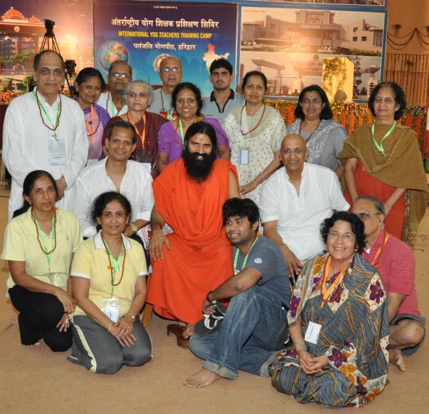 Swami Ramdevji with the US group