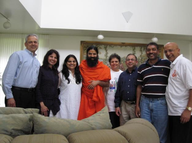 Swami Ramdevji with Patanjali Yog Teachers from Dallas