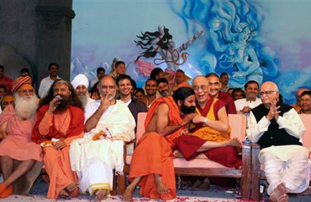 Swamiji with Dalai Lama and other saints