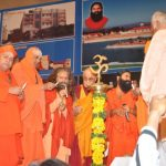 During Opening Ceremony with other Saints