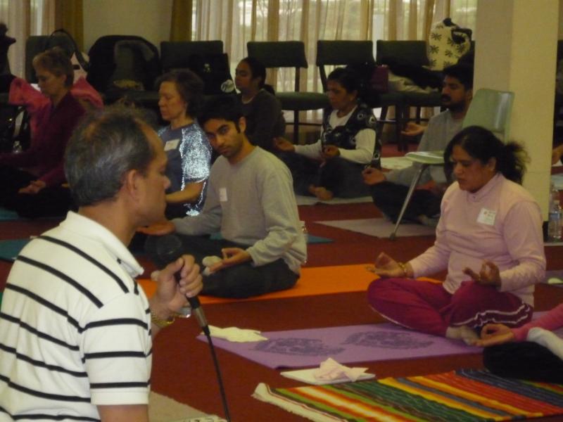 Shekharji conducting the session